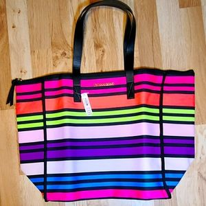 NWT - VS Colorful Neon Large Weekend Tote